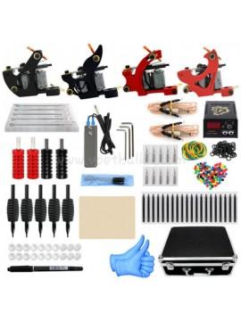 Kit Machine a Tatouer Deux Noir Et Deux Rouge Machines