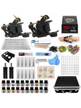 Kit Machine a Tatouer Deux Noir Machines 20 Couleurs