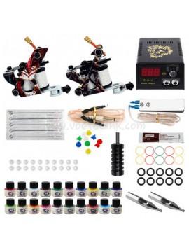 Kit Machine a Tatouer Deux Pattern Machines 20 Couleurs