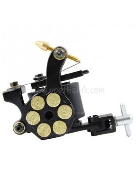 Machine a Tatouer N105 10 Couche Bobine Le Fer Shader Bullet Noir