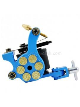 Machine a Tatouer N105 10 Couche Bobine Le Fer Shader Bullet Bleu
