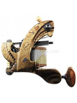Machine a Tatouer N109 10 Couche Bobine Damas Acier Shader Or