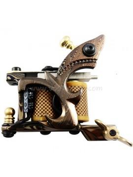 Machine a Tatouer N109 10 Couche Bobine Damas Acier Shader Jaune