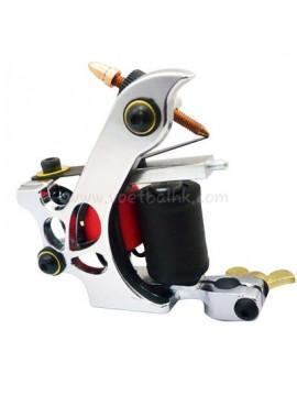 Machine a Tatouer N110 10 Couche Bobine Couleur Aluminum Shader Laissez tomber Argent