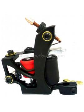 Machine a Tatouer N110 10 Couche Bobine Couleur Aluminum Shader En volant Noir