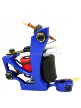 Machine a Tatouer N110 10 Couche Bobine Couleur Aluminum Shader En volant Bleu