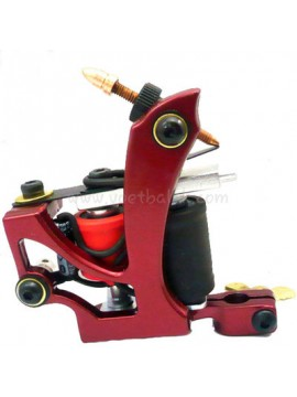 Machine a Tatouer N110 10 Couche Bobine Couleur Aluminum Shader En volant Rouge