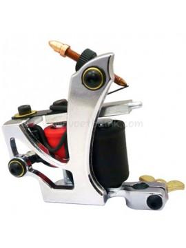 Machine a Tatouer N110 10 Couche Bobine Couleur Aluminum Shader En volant Argent