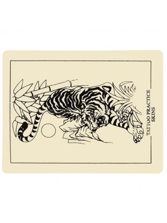 Tatouer Silicone Pratique de la peau Tigre 10PCS