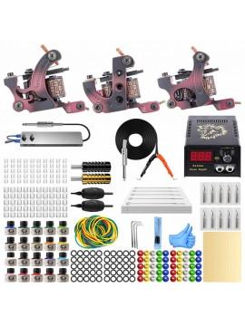 Set de tatouage avec un ensemble complet de matériel de tatouage 20 couleurs